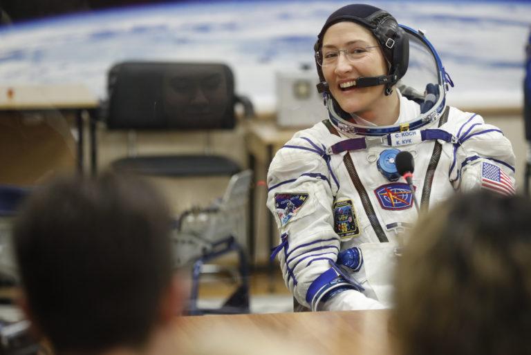 U.S. Astronaut Koch departs ISS, ending longest spaceflight by woman