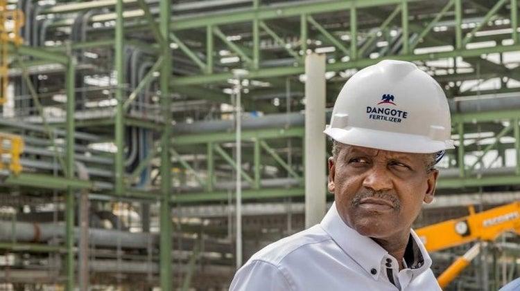 Dangote's $2bn fertilizer plant begins pre-testing ahead of inauguration