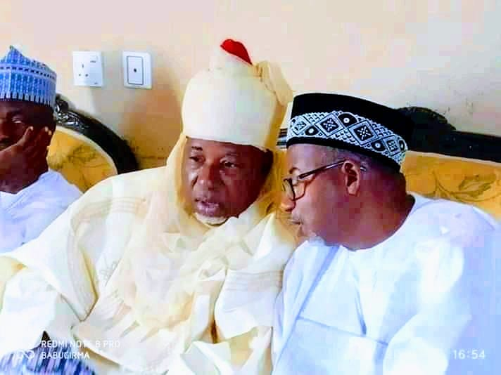 Governor Bala Mohammed (right) with his brother Yaya Adamu Mohammed