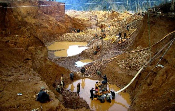 Illegal gold mining