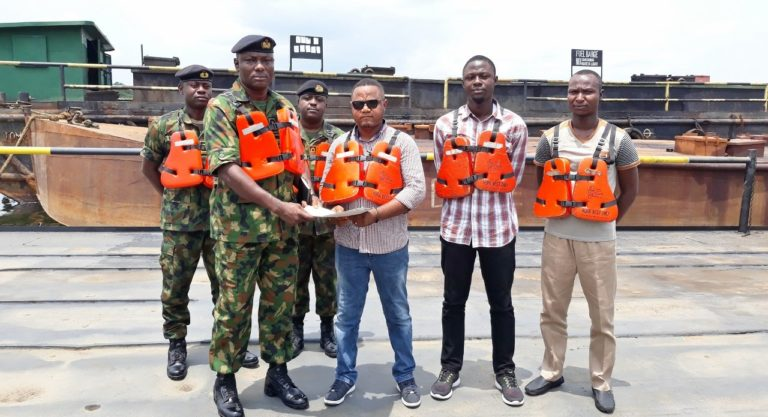 Nigerian Navy hands over 3 seized barges to EFCC in Rivers