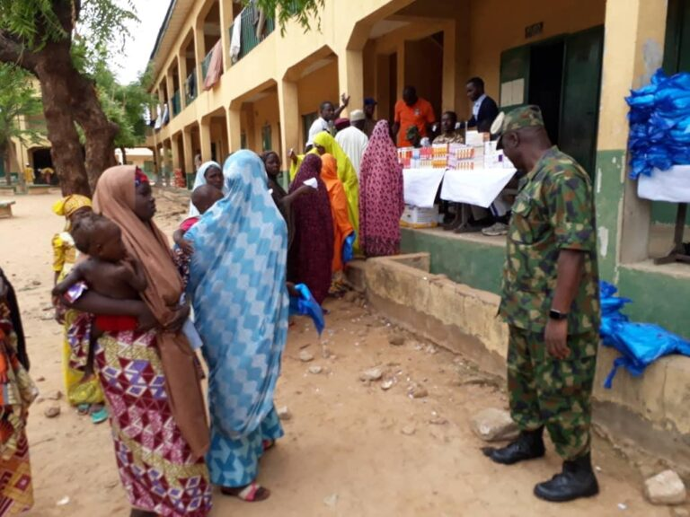 Nigerian Air Force offers free medical treatment to IDPs in Katsina