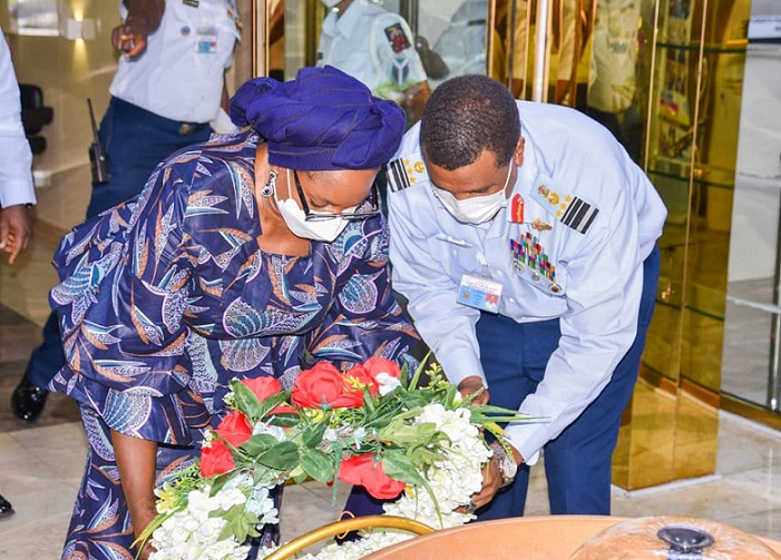 PHOTOS: Encomiums poured as late Flying Officer Arotile for burial in Abuja Thursday