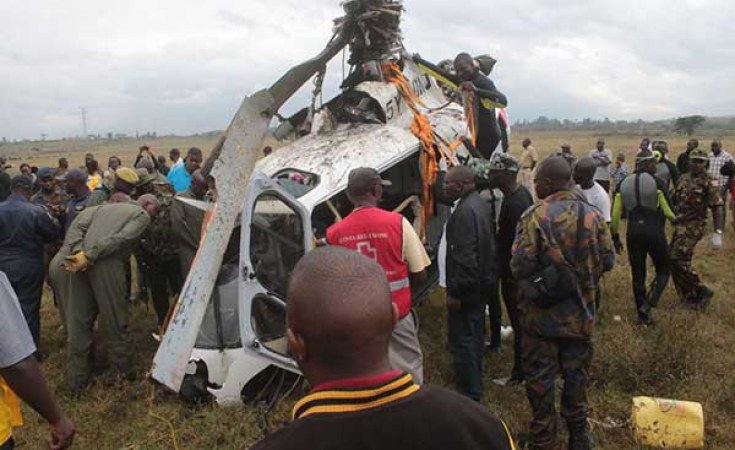 Military chopper crashes, kills 2 officers onboard