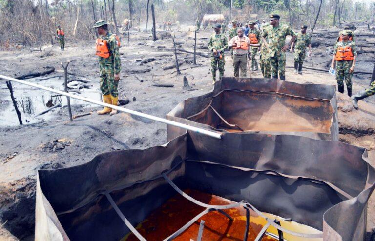 Nigerian troops destroy illegal refineries, impound stolen products in Niger Delta