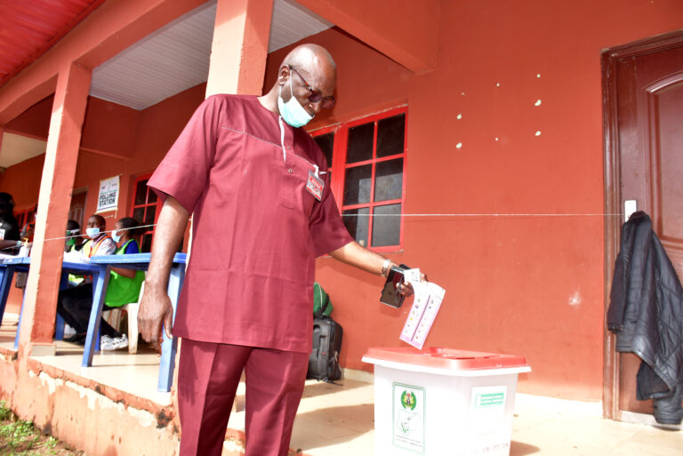 Edo Polls: Ize-Iyamu votes at Ugboko ward 4, commends conduct of Election
