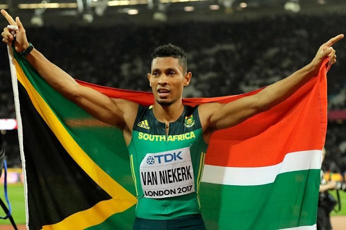Van Niekerk wins on return to track in Europe