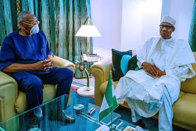 #EndSARS: Buhari meets T.Y. Danjuma at Aso Villa