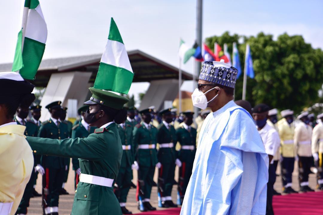 President Buhari attends NDA cadet passing-out inKaduna