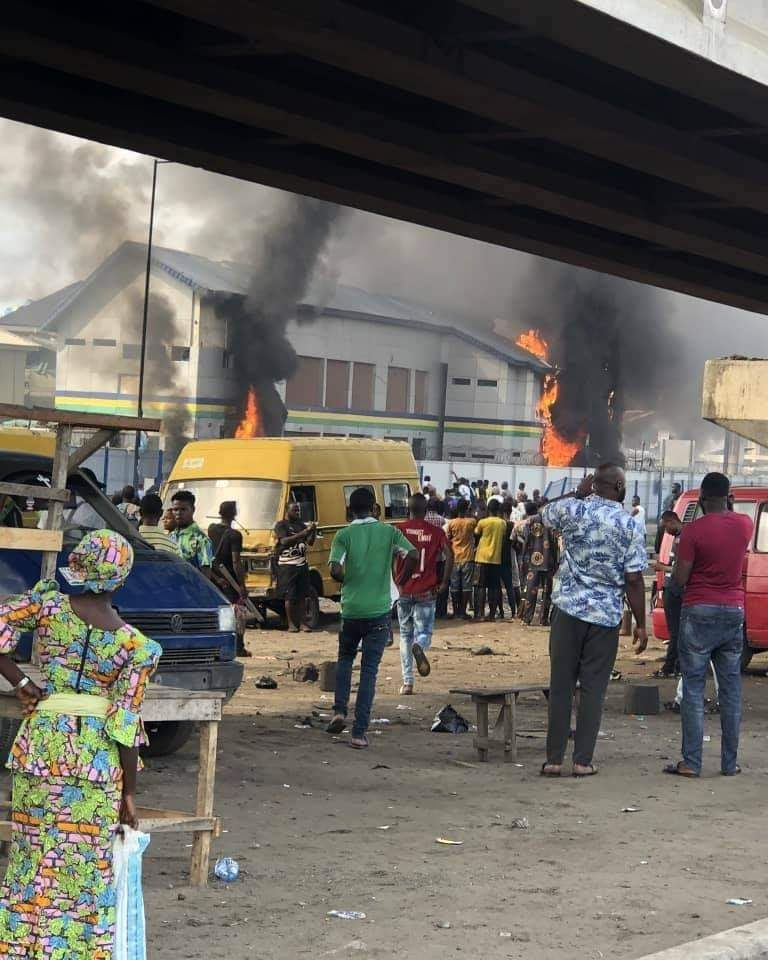 Police condemn burning of Orile station by hoodlums