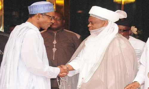 Buhari in closed door meeting with Sultan, other monarchs at Aso Rock