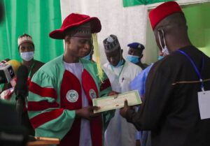The Solar Energy Society of Nigeria, SESN, conferred their fellowship on the Director-General of the National Automotive Development Agency, NADDC, Jelani Aliyu
