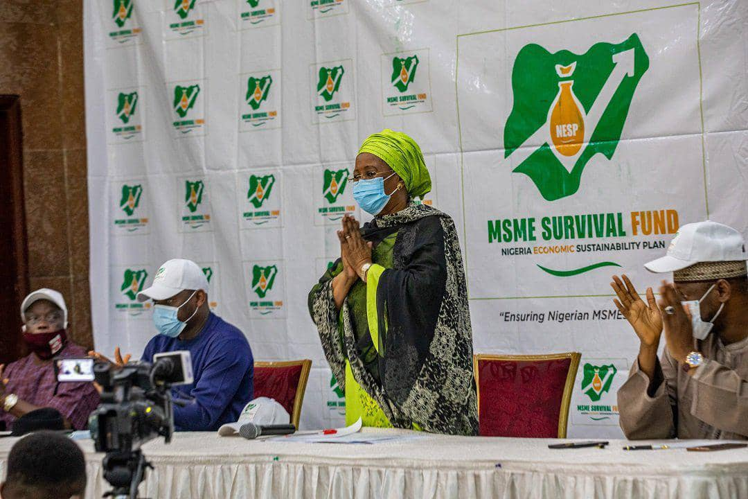 Amb. Mariam Katagum, Minister of State for Industry, Trade and Investment and Chairperson of the Steering Committee of National MSMEs Survival Fund and Guaranteed off-take Stimulus Scheme
