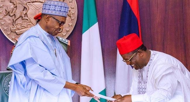 Defection: Call Umahi to order, Ebonyi indigenes tell Buhari, APC
