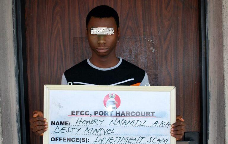 EFCC arrestsstudent overN850,000 investmentscam