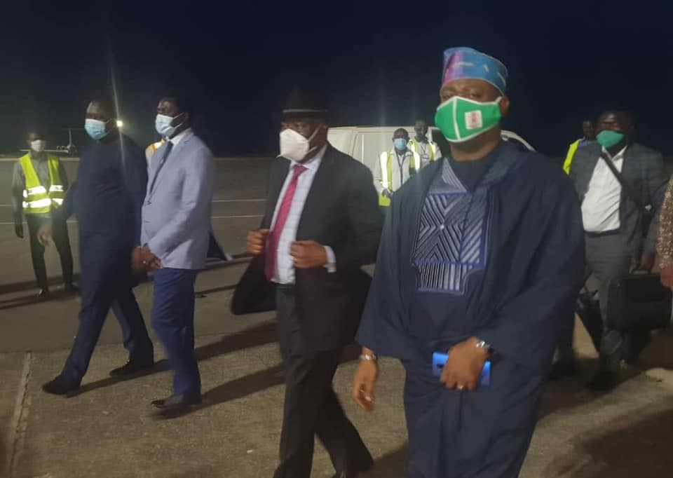 Former Nigerian President, Dr. Goodluck Ebele Jonathan, arrived in The Gambia on Friday to support the country's ongoing constitutional review process to forge a workable national consensus, an official source said in Banjul.