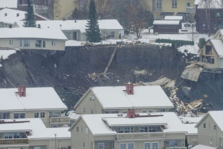 21 missing as landslide hits southern Norway