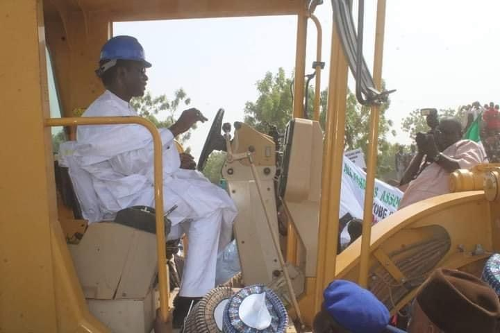 The governor of Yobe State Mai Mala Buni on Wednesday, December 16, 2020 flagged off the construction of Gujba-Ngalda Road, as part of ongoing statewide urban and rural infrastructure development plan.