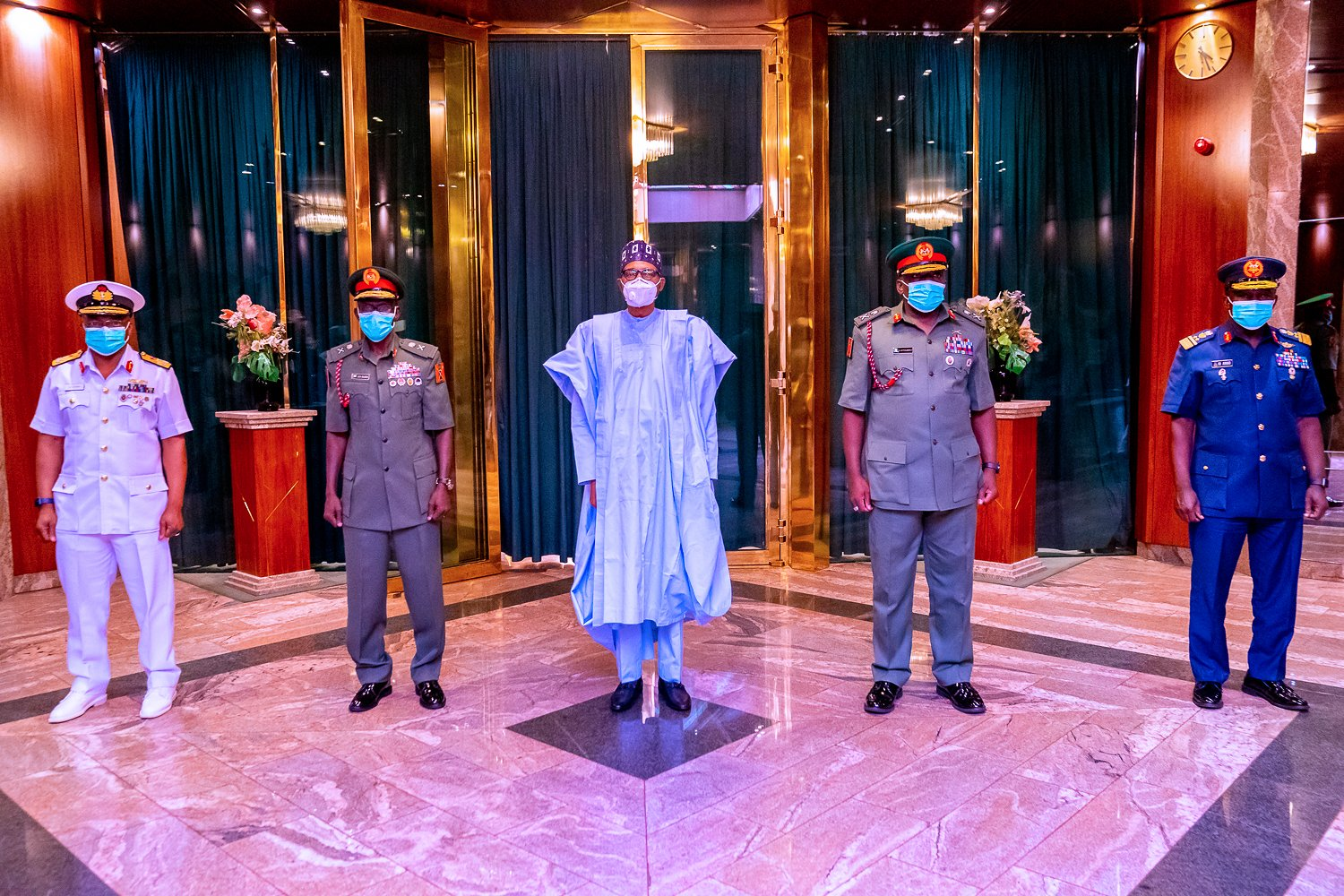 President Buhari and the new Service Chiefs