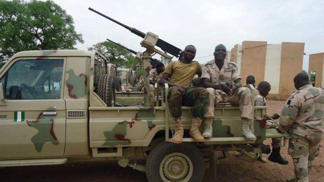 Nigerian Army gun truck