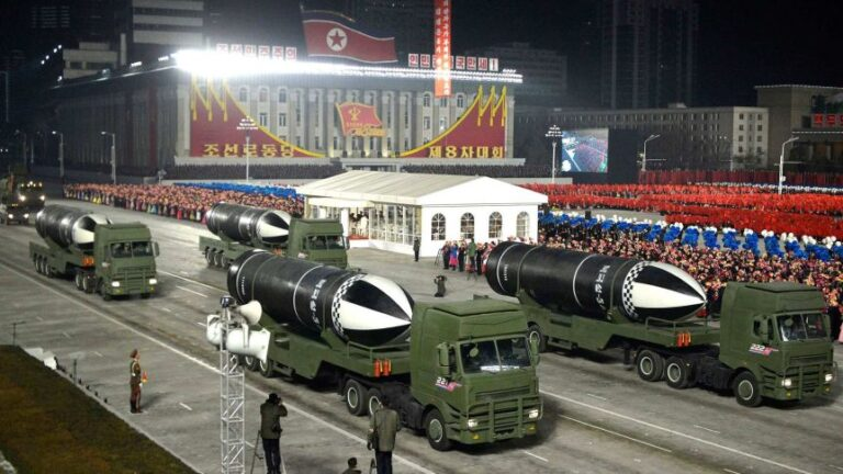 North Korea shows off new submarine-launched missiles