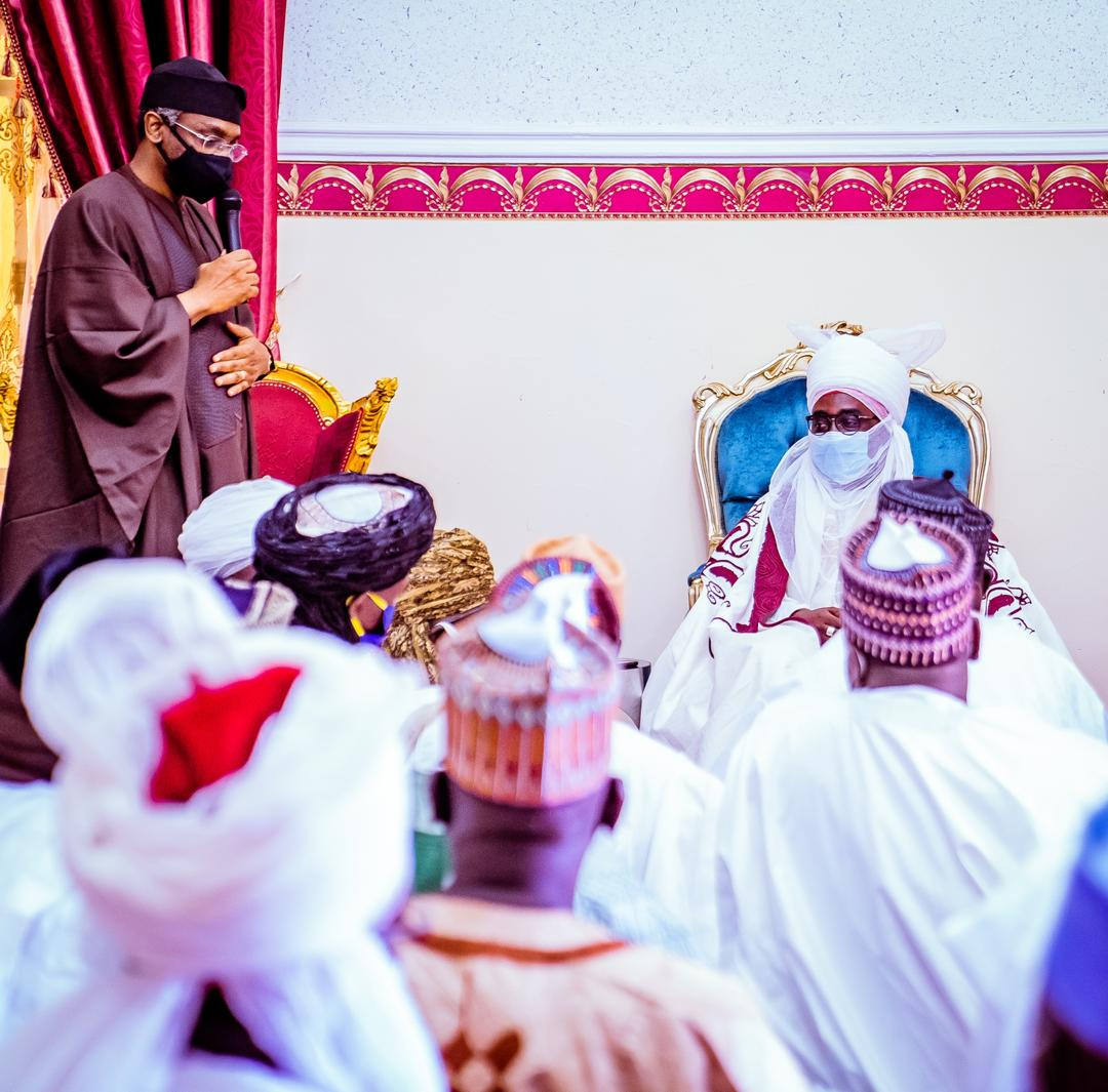 Gbajabiamila visits Zaria, condoles with Zazzau emir over death of 2 princes