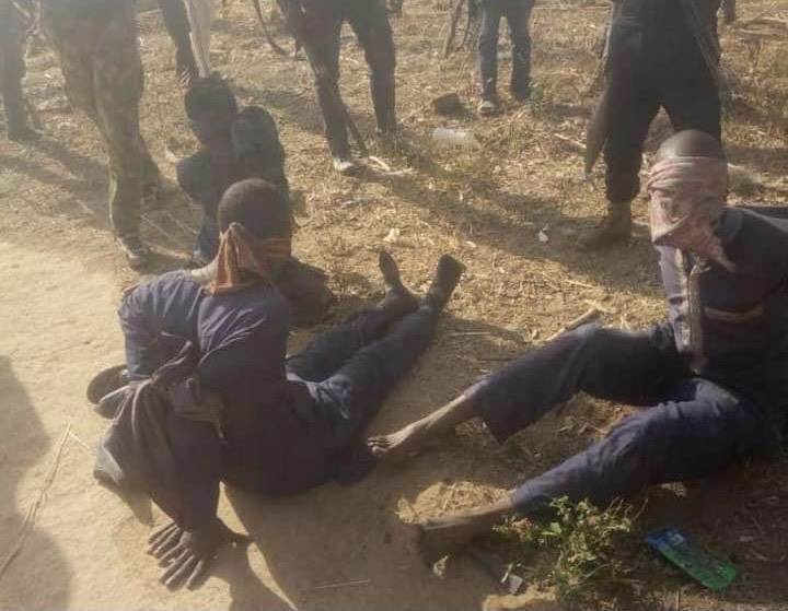 Nigerian troops under the auspices of Operation Thunder Strike have captured three bandits in Gajina settlement in Chikun Local Government Area of Kaduna State.