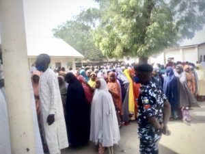 Voters during the 2021 Yobe Local Government election