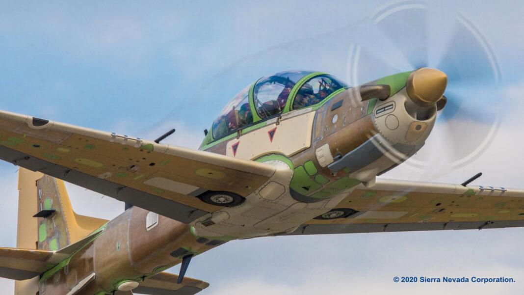 One of Nigeria's A29 Super Tucano performs maiden flight.