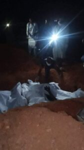 Victims of the ethnic killing in Sasa, Akinyele Local Government Area of Oyo State, have been buried in mass grave on Sunday February 14, 2021.
