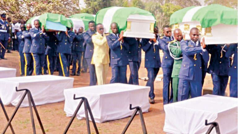 Plane crash: Nigerian Air Force buries officers in Abuja
