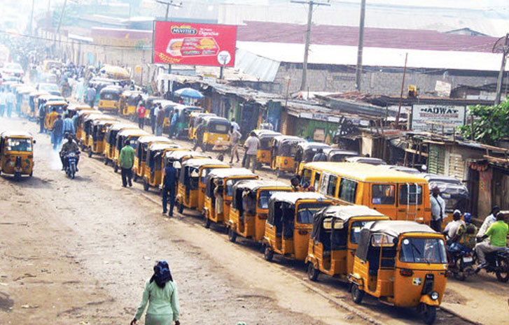 Commuters stranded as Kano tricycle operators begin strike over N100 levy