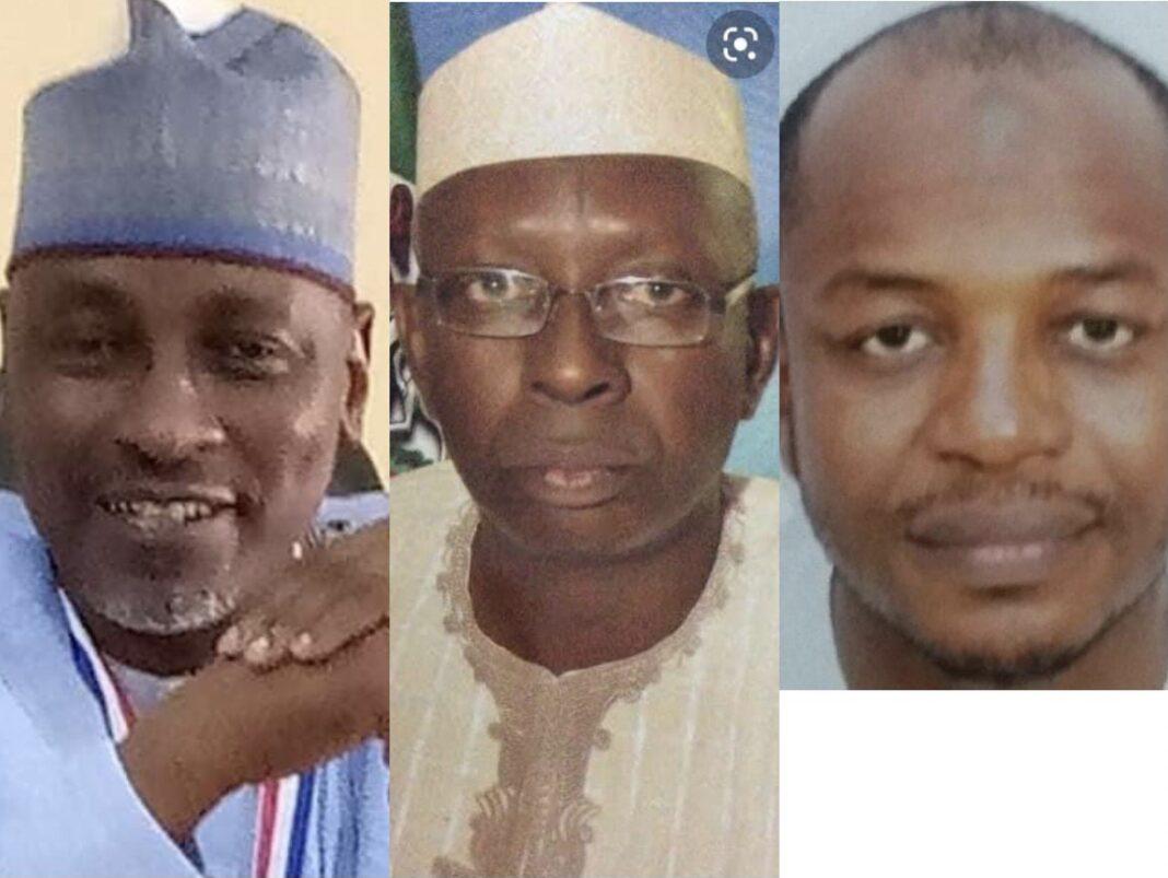 Professors Abdullahi Sule Kano, Muhammad Sani Gumel and Mahmud Umar Sani