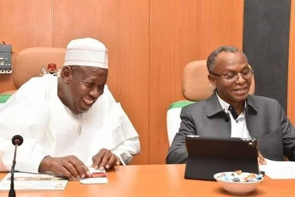 FILE PHOTO: Governors El-Rufai and Ganduje during a meeting