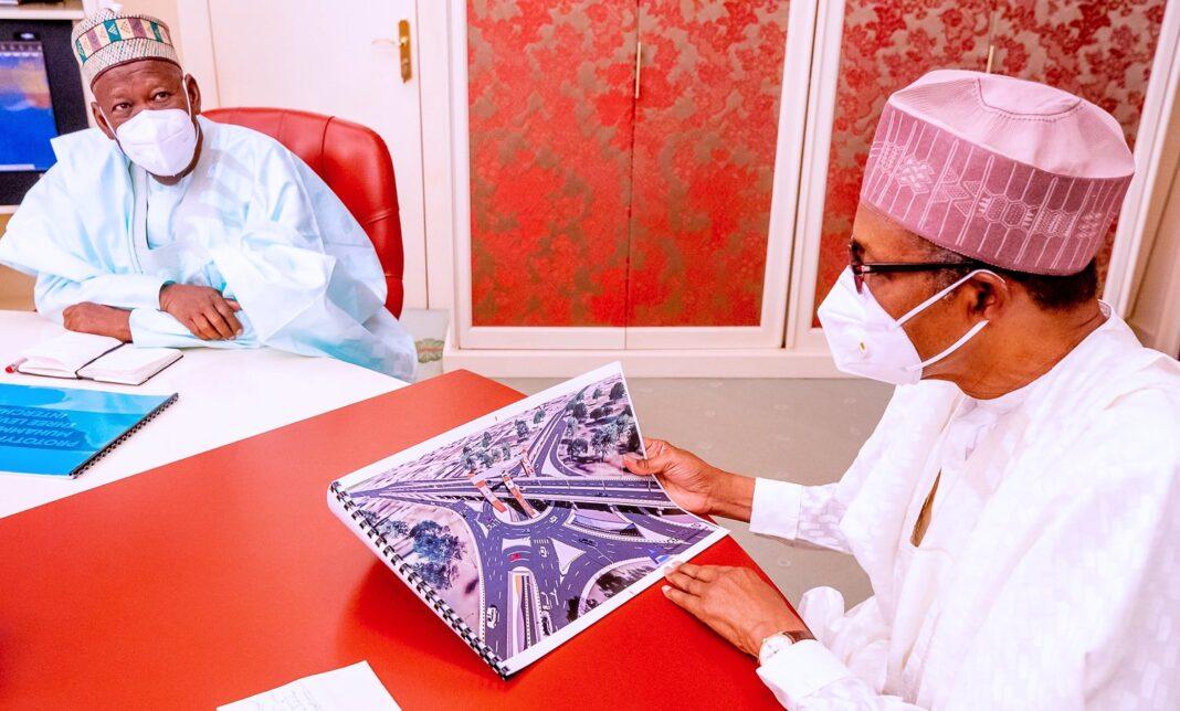 President Muhammadu Buhari hosted Governor Abdullahi Ganduje of Kano State on March 22, 2021