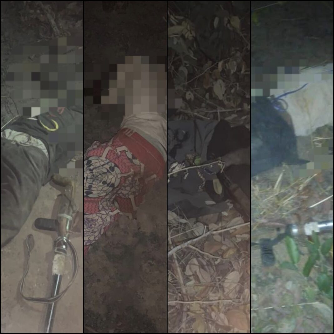 The bodies of the bandits killed by Nigerian troops in Kaduna
