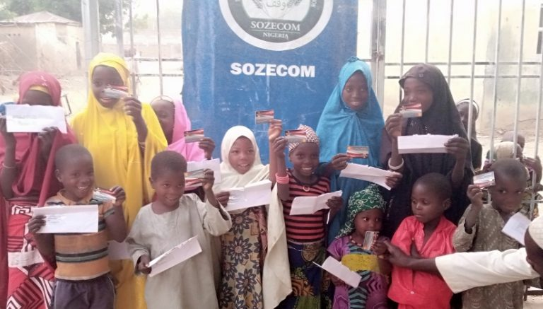 Some of the orphans who received their ATMs