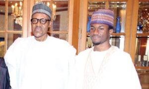 President Muhammadu Buhari with his son Yusuf