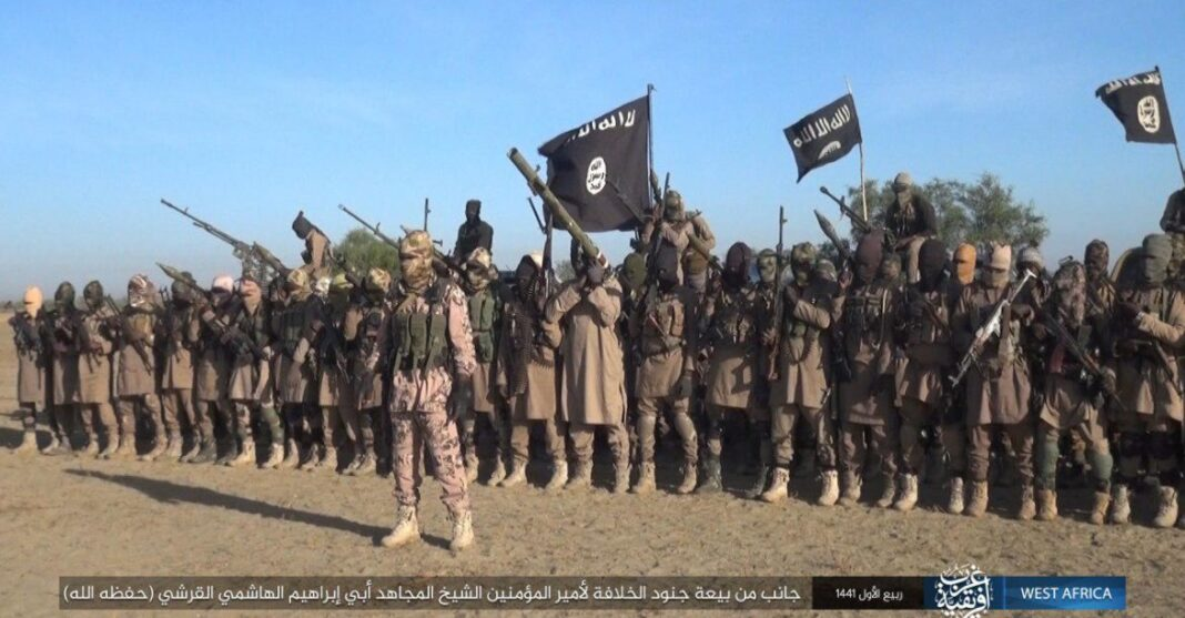 FILE PHOTO: A group of ISWAP terrorists