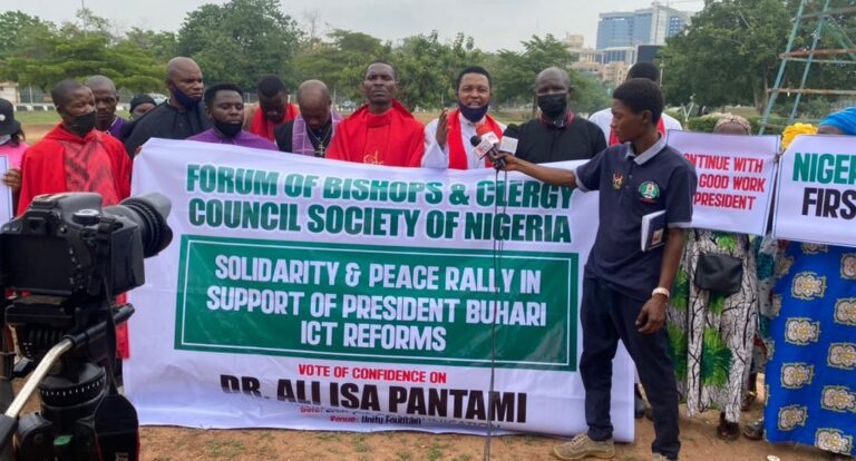 Pantami: Christian clerics hold peace, solidarity rally for Buhari administration