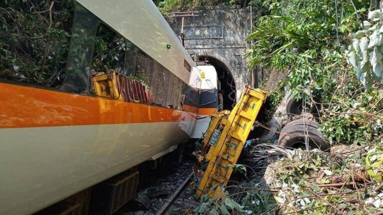 50 killed as commercial train derails in Taiwan