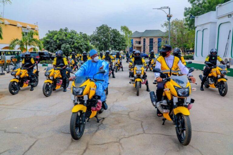 Ganduje inaugurates 25 power bikes to control traffic