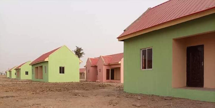 The houses built for both Christian and Muslim IDPs by Yola Catholic Church