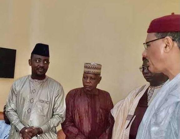 FILE PHOTO: President Mohamed Bazoum (right) with Professor Adamu Abubakar Gwarzo (left).