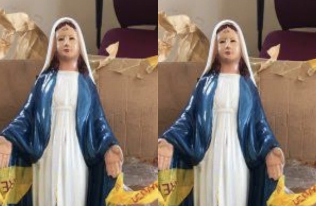 The Statue of Mary, Mother of Jesus that the consignment were hidden