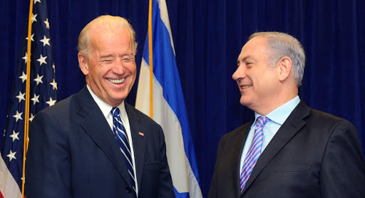 NEW ORLEANS - NOVEMBER 7, 2010: (ISRAEL OUT) In this handout photo provided by the Israeli Government Press Office (GPO), Israeli PM Benyamin Netanyau (R) meets U.S. Vice President Joe Biden on November 7, 2010 in New Orleans, Louisiana. Netanyahu is on a five day visit to the U.S. to discuss the ongoing Mideast peace process. (Photo Avi Ohayon/GPO via Getty Images)