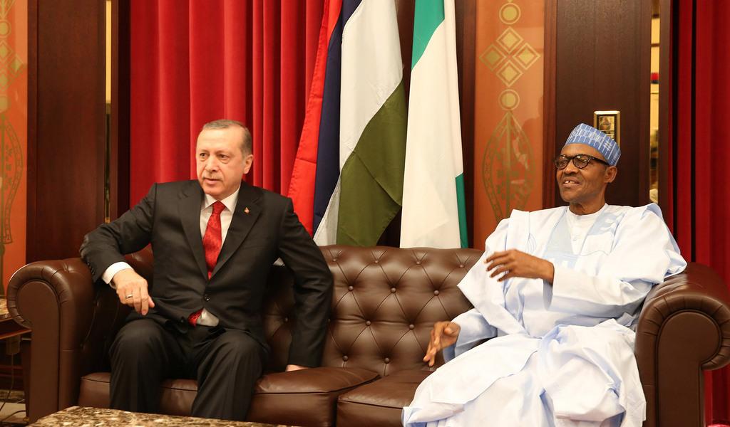 President Muhammadu Buhari with Turkish President Recep Tayyip Erdoğan
