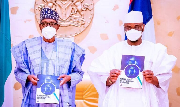 Buhari urges Nigerians to link their SIMs with NIN