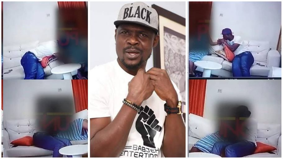 CCTV footage of nollywood actor Baba-Ijesha molesting 14-year-old-girl