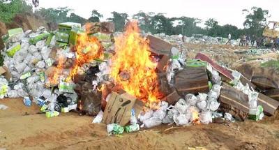 SON destroys N2m expired, substandard goods in Niger